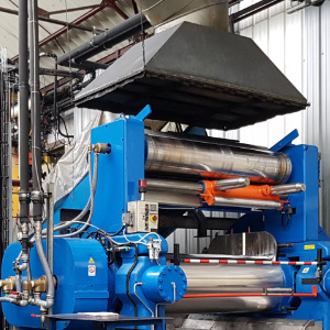Image illustrant un processus du mélange pour obtenir du caoutchouc